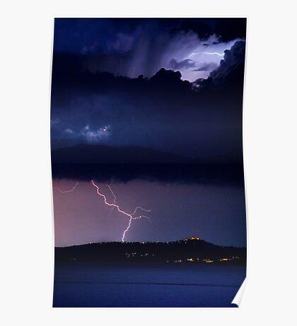 Zeus' Thunderbolts, Peloponnese, Greece Poster