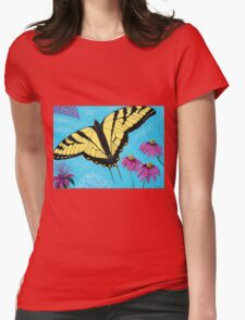 Yellow Swallowtail Womens Fitted T-Shirt