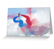 Break ! Red Arrows - Dunsfold 2012 Greeting Card