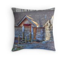 Cabin In The Wood Throw Pillow