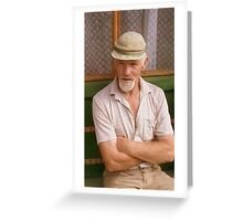 Self-portrait of John thank you very much Greeting Card