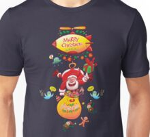 Santa has a Zeppelin to Deliver Christmas Gifts Unisex T-Shirt