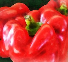 Three Red Peppers by Susan Savad