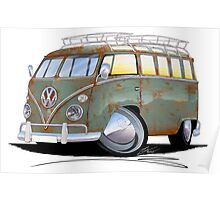 VW Splitty (23 Window) D Poster