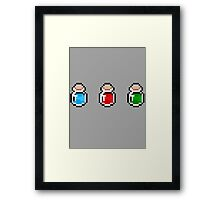 Zelda Potions  Framed Print