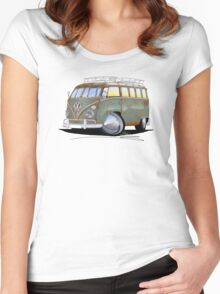 VW Splitty (23 Window) D Women's Fitted Scoop T-Shirt