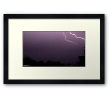 Lightning 2012 Collection 13 Framed Print