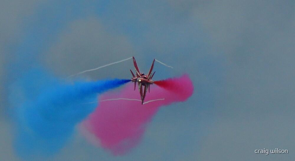 Red Arrow pair cross over by craig wilson