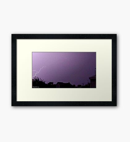 Lightning 2012 Collection 43 Framed Print