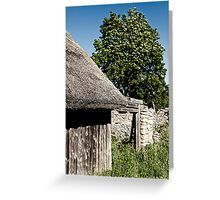 The Barn. The Tree. Greeting Card