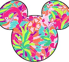 Lilly Pulitzer Inspired Mouse Ears Lulu by mlr28blu