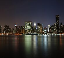 Midtown Manhattan at dusk by Peter Dickinson
