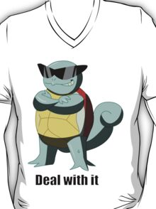 "Squirtle says ""Deal with it"" T-Shirt"