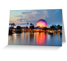Dusk Descends on EPCOT Greeting Card