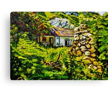 """Beneath the Track to the Hidden Village: Deserted Homes, Galboly, County Antrim."" Canvas Print"