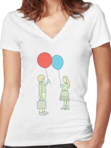 le ballon rouge Women's Fitted V-Neck T-Shirt