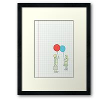 le ballon rouge Framed Print