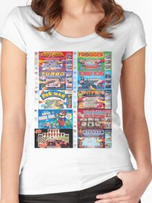 Arcade Board Games Women's Fitted Scoop T-Shirt