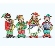 Santa's Band of Elves Photographic Print