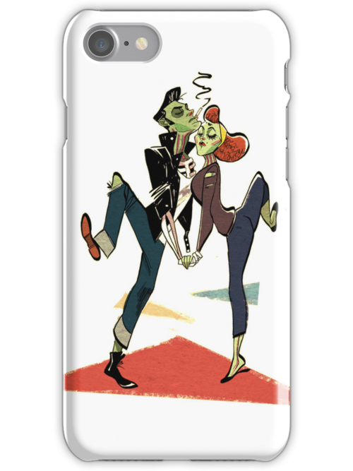 Zombie Greaser Couple Case by Philliplight