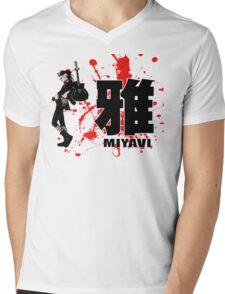 Miyavi Red Splash Mens V-Neck T-Shirt