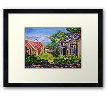 """Derelict Farmhouse and Farm Buildings on the Torr Head Road, County Antrim."" Framed Print"