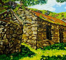 """At Galboly, Deserted Clachan, Glens of Antrim."" by Laura Butler"