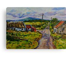 """Deserted Farm on the Magherabrack Road, County Tyrone."" Canvas Print"