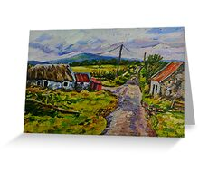 """Deserted Farm on the Magherabrack Road, County Tyrone."" Greeting Card"