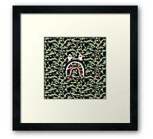 A Bathing Ape x Shark Framed Print