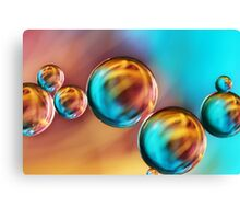 Techno-coloured Bubble Abstract Canvas Print