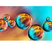 Techno-coloured Bubble Abstract Photographic Print