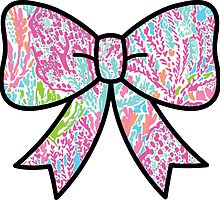 Lilly Pulitzer Inspired Bow Lets Cha Cha by mlr28blu