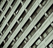 Block of Flats B&W by Phill Sacre