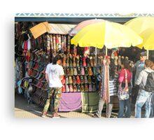 Selling shoes. Metal Print