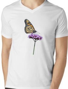 Monarch on mauve t-shirt/leggings/merchandise Mens V-Neck T-Shirt