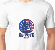 Republican Elephant Mascot USA Flag Unisex T-Shirt