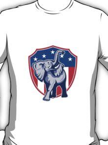 Republican Elephant Mascot USA Flag Shield T-Shirt
