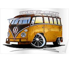 VW Splitty (23 Window) E Poster