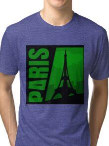 Paris Comic Style Tri-blend T-Shirt