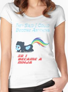 Ninja Dash  Women's Fitted Scoop T-Shirt
