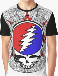 Mayan Calendar Steal Your Face - Basic Color Graphic T-Shirt