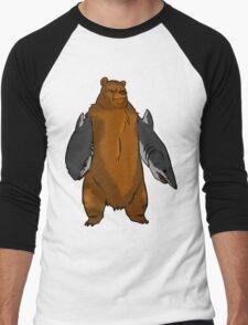 Bear with Shark Arms! - Large Men's Baseball ¾ T-Shirt