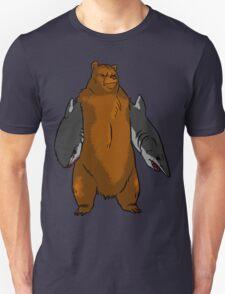 Bear with Shark Arms! - Large Unisex T-Shirt