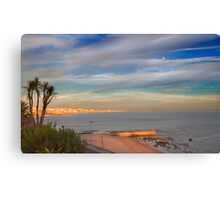 miragem sunset and the moon Canvas Print