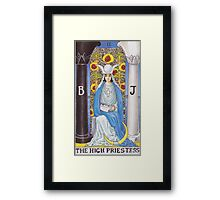 Tarot Card - The High Priestess Framed Print