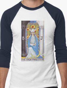 Tarot Card - The High Priestess Men's Baseball ¾ T-Shirt