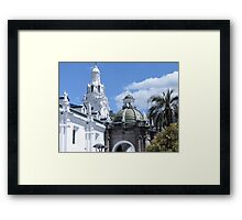 Quito architecture. Framed Print