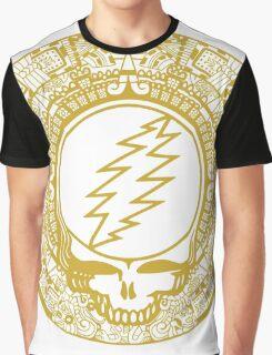Mayan Calendar Steal Your Face - GOLD Graphic T-Shirt