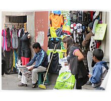 Quito shop. Poster